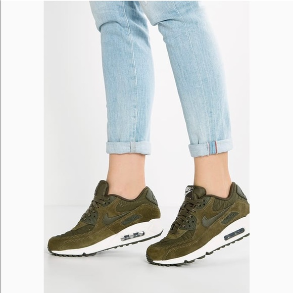 on sale 7eedb 363fa Nike Air Max 90 Premium Sz 8.5 Dark Loden Women s.  M 5ba820a3e944ba09f29cdb76. Other Shoes ...